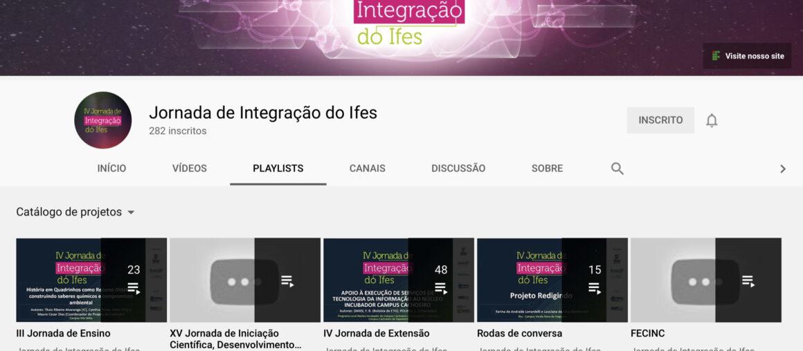 Catálogo de vídeos da Jornada da Integração reúne trabalhos apresentados no evento